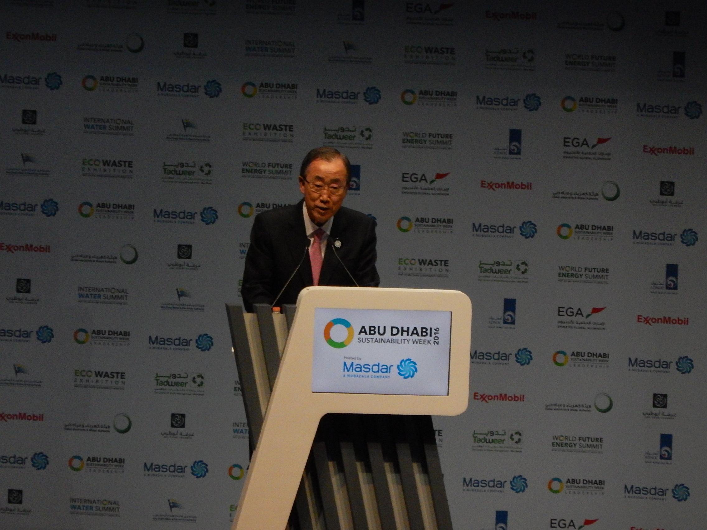 Ban Ki Moon, secrétaire générale des Nations Unies