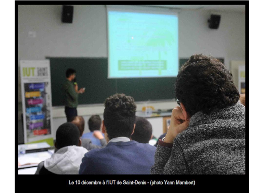 Conference Climat COP21 IUT St Denis