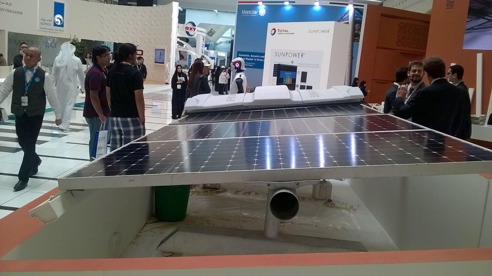 Panneau solaire avec entretien vu 2016