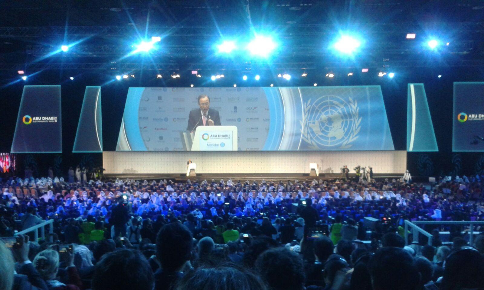 WFES 2016 Ceremonie Ouverture Ban Ki Moon