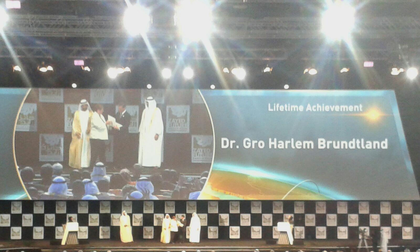 WFES 2016 Ceremonie Ouverture Gro Harlem Brundtland