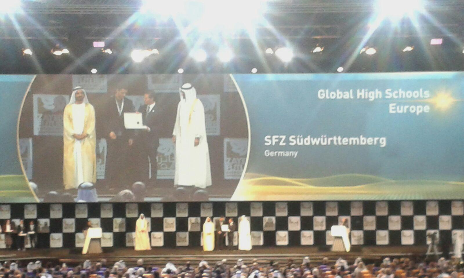 WFES 2016 Ceremonie Ouverture Preis SFZ