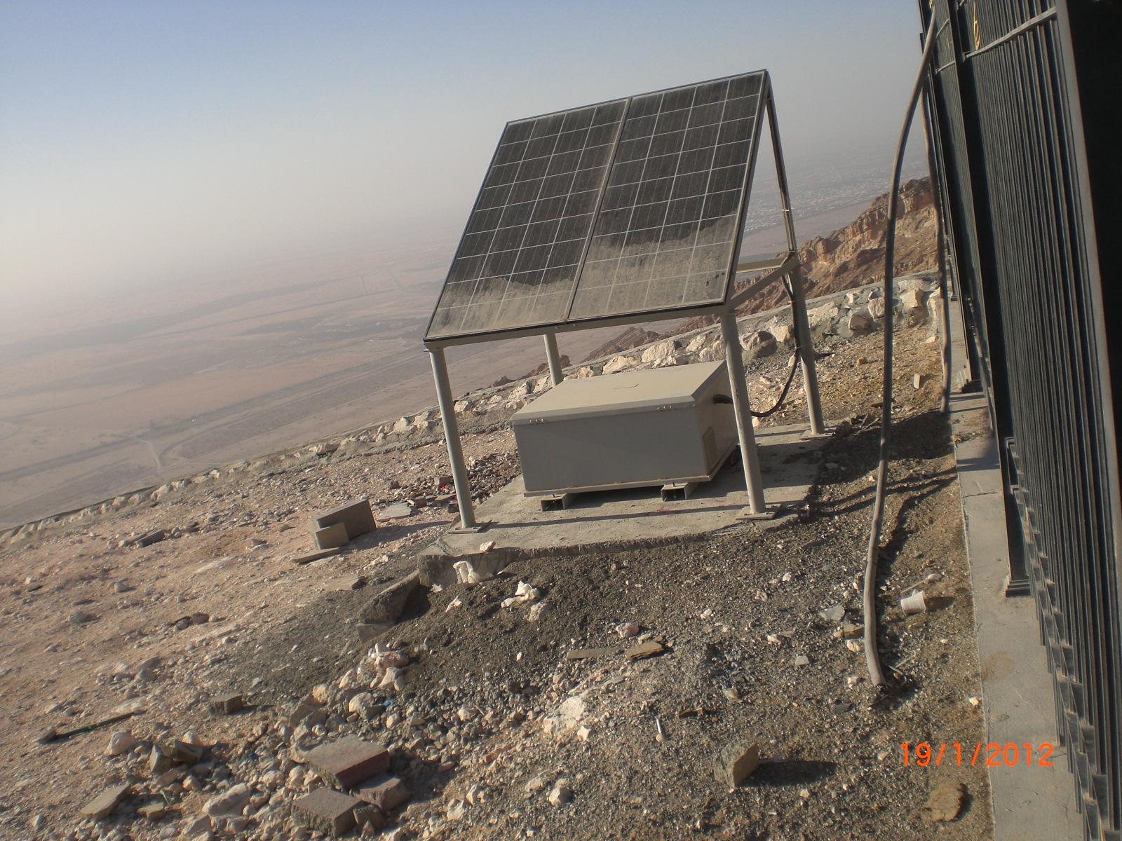 Panneau solaire sans entretien vu 2012