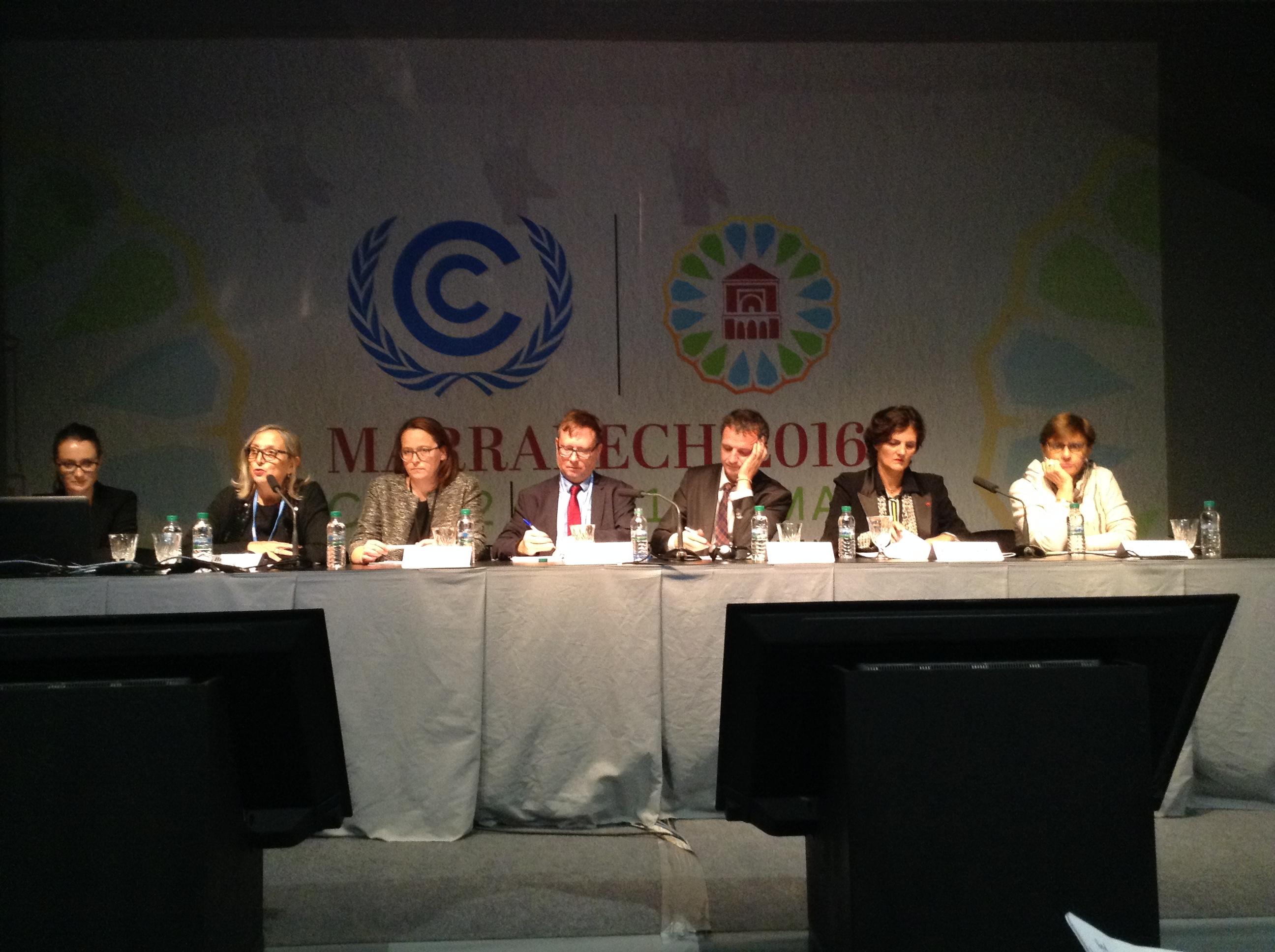 COP22 Economie circulaire Table ronde territoire