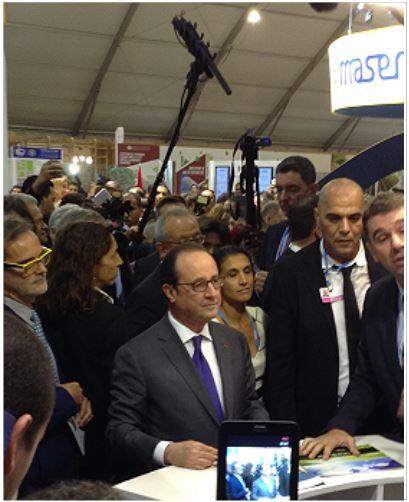 COP22 visite du Président